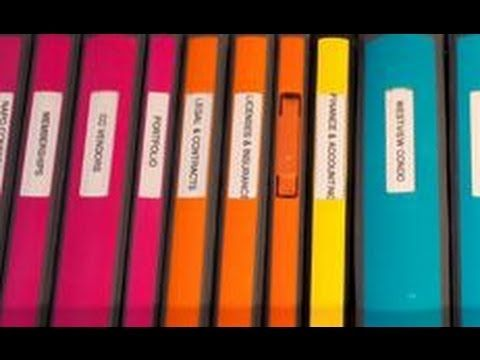 Binder ideas for organizing home office/school/important papers by Certified Professional Organizer Alejandra Costello.