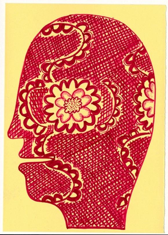 Mostra: 'LAURA ZENI...CHE MERAVIGLIA!'- Laura Zeni   Ritratti interiori, 2010-2012, tecnica mista su carta, cm 24x32  www.designspeaking.com