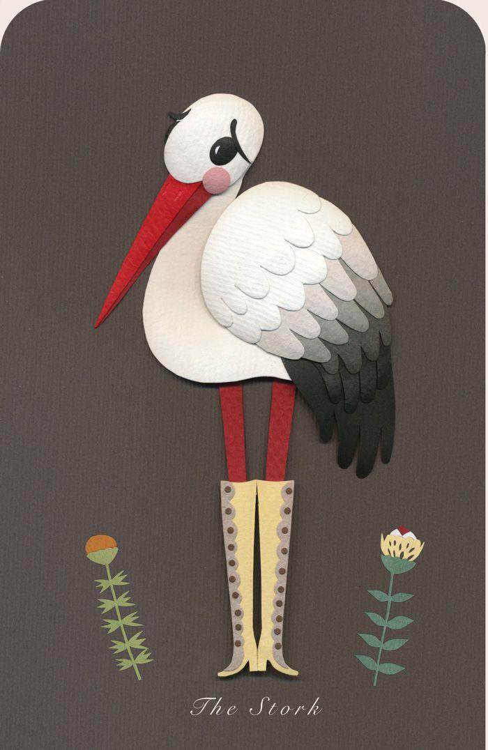 The stork (closeup) by Elsa Mora.