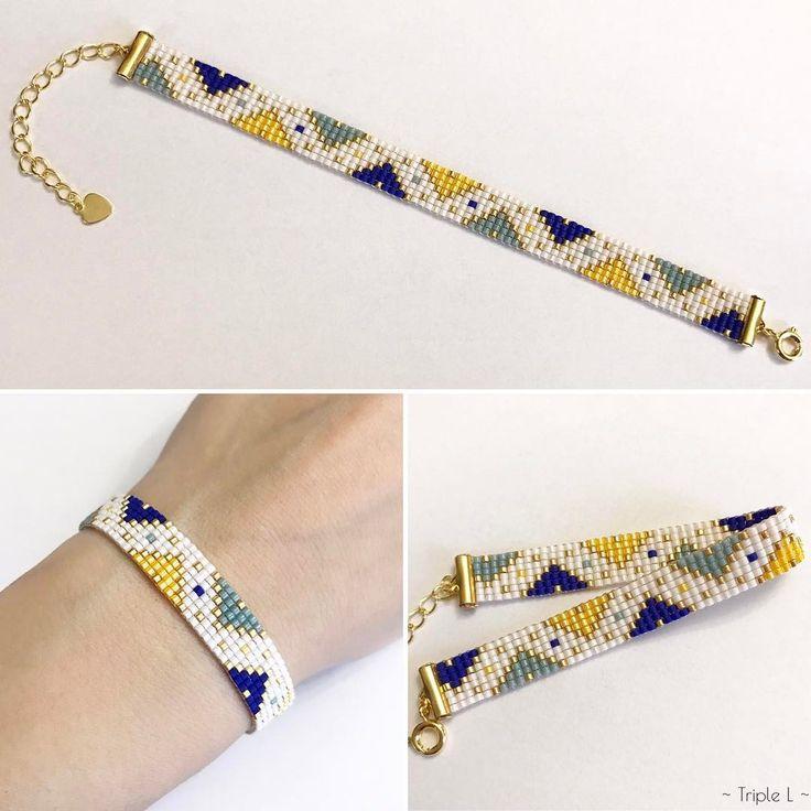 """177 mentions J'aime, 16 commentaires - Mag (@triple_l_de_mag) sur Instagram : """"Nouveau bracelet à retrouver dans mes boutiques Etsy et A little Market ! Premier bracelet tissé…"""""""