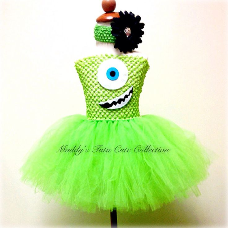 Monsters Inc. Inspired Tutu Dress- Sizes 0-10 years old by MTCCollection on Etsy https://www.etsy.com/listing/161285193/monsters-inc-inspired-tutu-dress-sizes-0