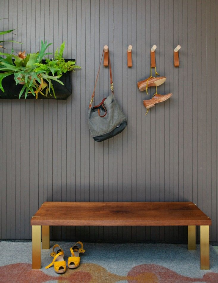 Saw these lovely hooks at the market, even sweeter in person. Alice Techeny bench and pegs |  Remodelista
