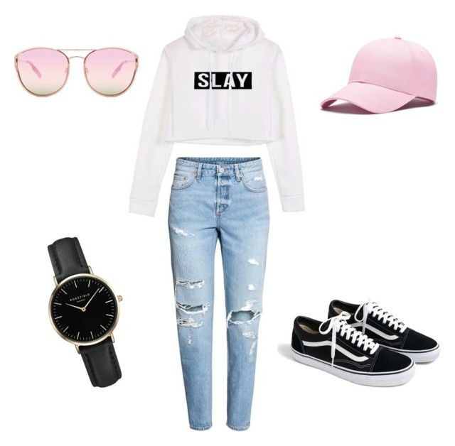 """""""Untitled #16"""" by sarii-syafitri on Polyvore featuring H&M, J.Crew, ROSEFIELD and Quay"""