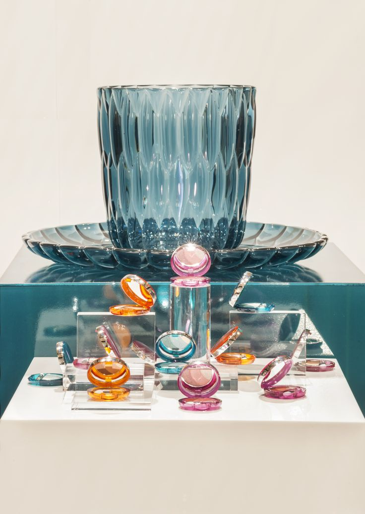 Jelly vases by Patricia Urquiola with Trasparenze eyeshadow | Shades of jade