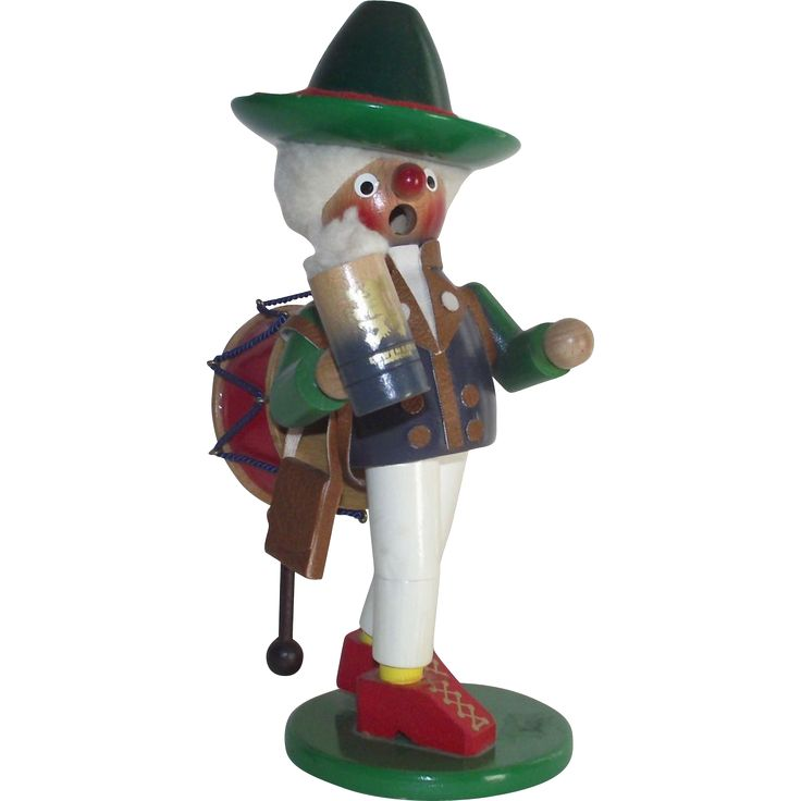 Vintage Steinbach Smoker Music Box West German Oktoberfest -- found at www.rubylane.com #monthlyfinds #vintagebeginshere