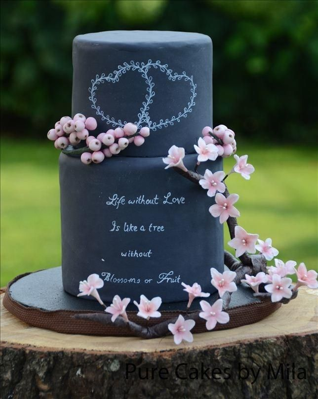Blushy Blossoms & Berries Wedding Cake - Cake by Mila - Pure Cakes by Mila | CakesDecor