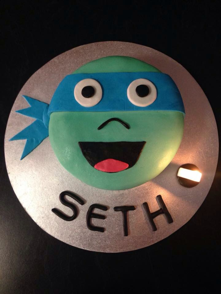 Seth's ninja turtle cake!