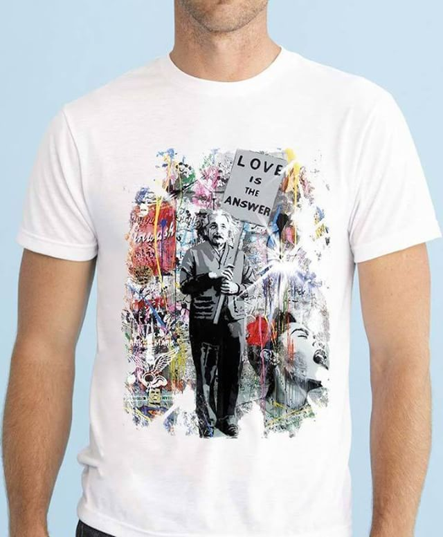 https://www.navdari.com/products-m00488-ALBERTEINSTEINLOVEISTHEANSWERCOLORFULBACKGROUNDDESIGNTSHIRT.html #albert #einsten #banksy #love #quote answerlove #love #answer #TSHIRT #CLOTHING #Men #NAVDARI