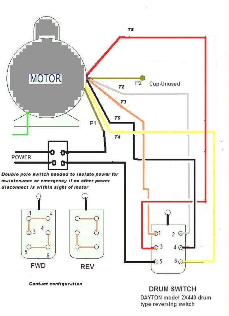 Schematic Contactor Wiring Diagram Single Phase In 2020
