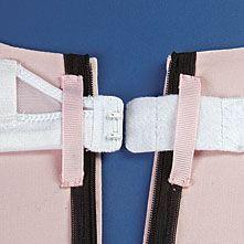 Вот так при помощи двух петелек из ленты, пришитых на руках, можно надежно зафиксировать бюстгальтер в платье на лямках — чтобы не выглядывал сзади