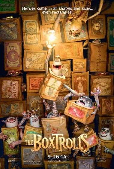 'The Box Trolls' Poster/Trailer. New 'toon from Laika, the folks who brought us Coraline and ParaNorman.  But it's not coming out until September 2014!  Wah!
