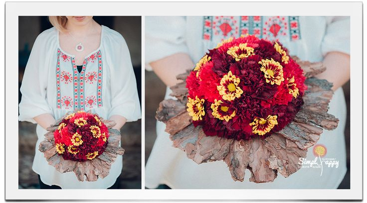 Romanian Traditional Wedding Bouquet  www.facebook.com/faitamain www.simplyhappy.ro