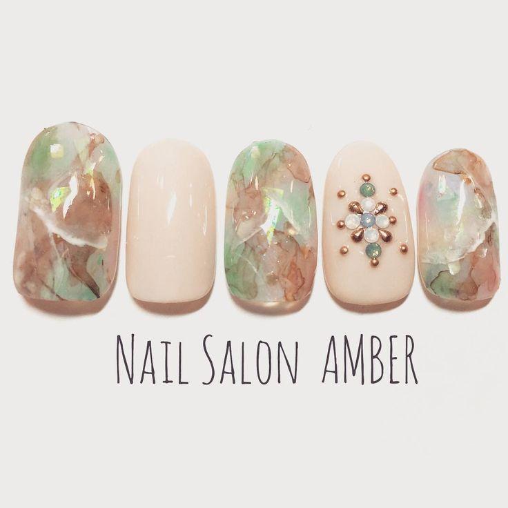 #naildesign #nailart #marblenailart