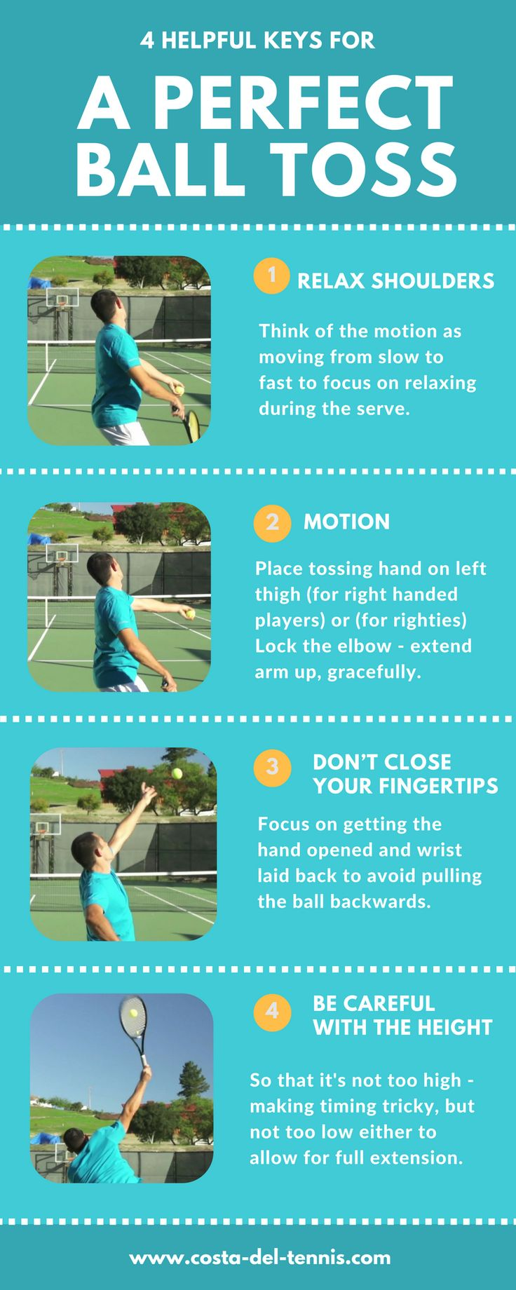 4 Helpful Keys for a perfect Ball Toss #tennis  #tennis tutorial  #forehand