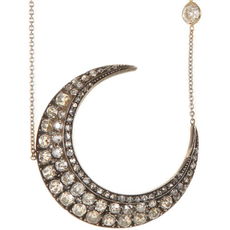 Renee Lewis  Diamond Crescent Necklace