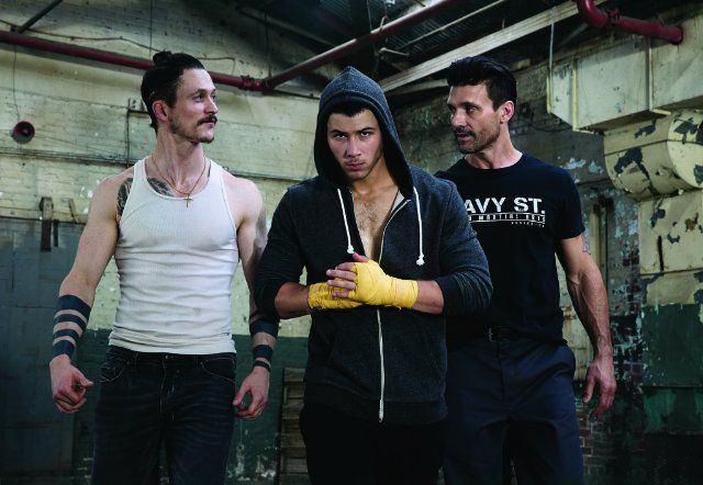 Still of Jonathan Tucker, Frank Grillo and Nick Jonas in Kingdom (2014)