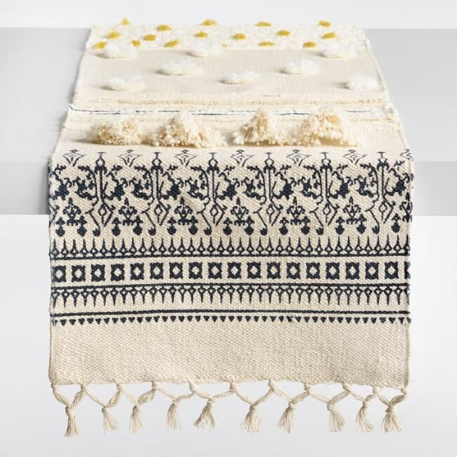 Ivory Boho Table Runner I Love The Embellishment And Details