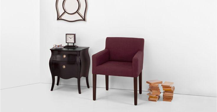 Wilton, une chaise, rouge merlot | made.com