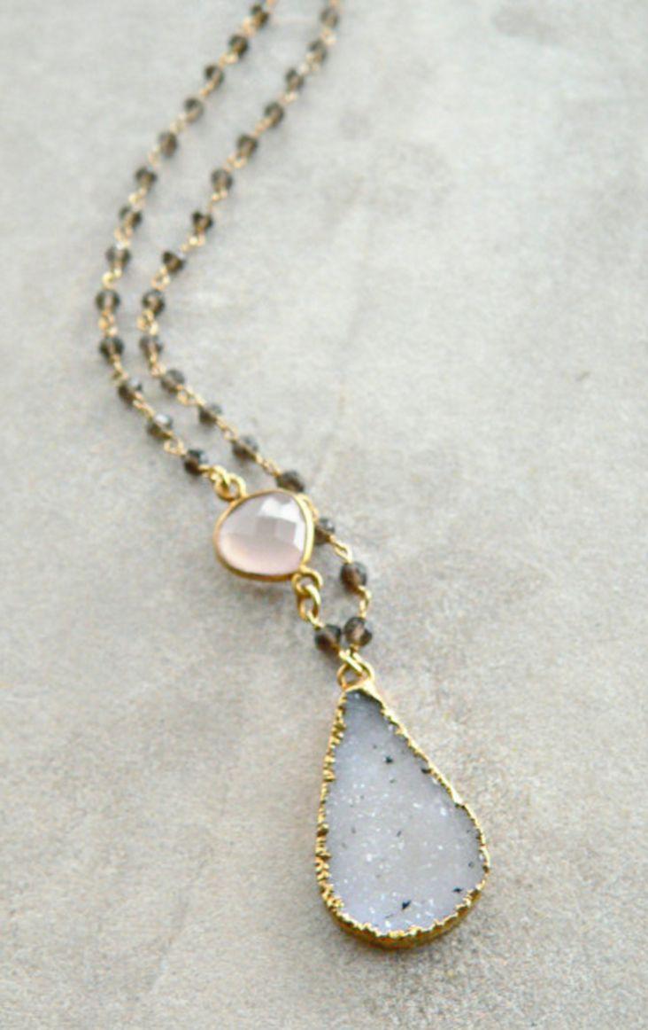 Druzy & Gemstone Necklace | Kattilac