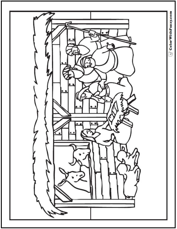Coloring Pages Nativity Animals : Best ⭐birthday coloring pages⭐ images on pinterest