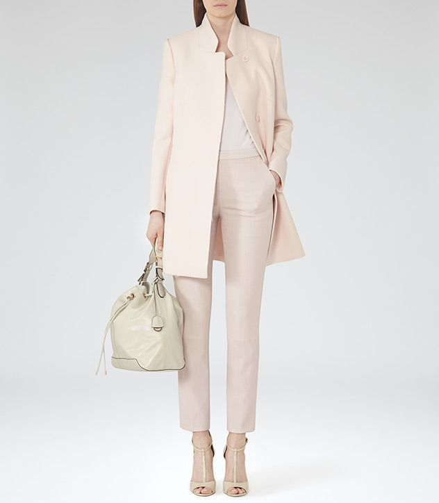 Reiss Oyster Pari Concealed Button Coat-$495.00