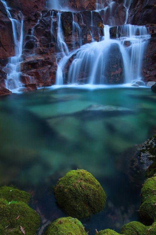 Tahiti falls on Geres National Park, Portugal