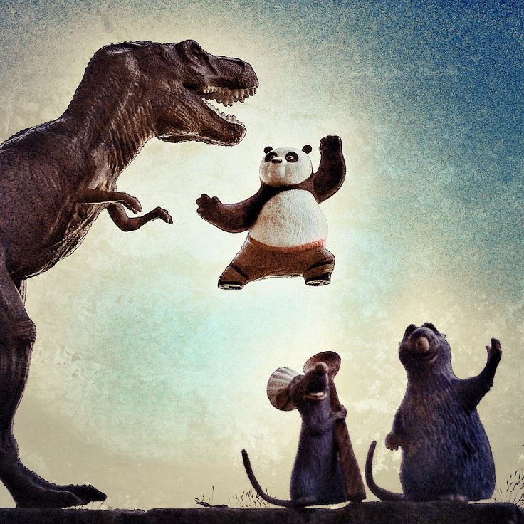 Kung-Fu Rex! Always ready for T-Action... T-✋✌