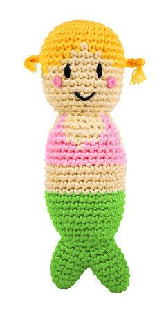 Organic Mermaid Rattle. Baby rattles have soft, huggable bodies perfect for your baby's little hands.$15.45
