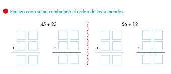 Resultado de imagen para propiedad conmutativa dela suma