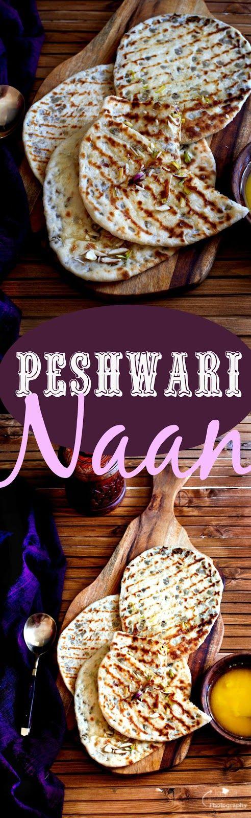 Jagruti's Cooking Odyssey: Peshwari Naan - Indian leavened Bread stuffed with fruit and nuts