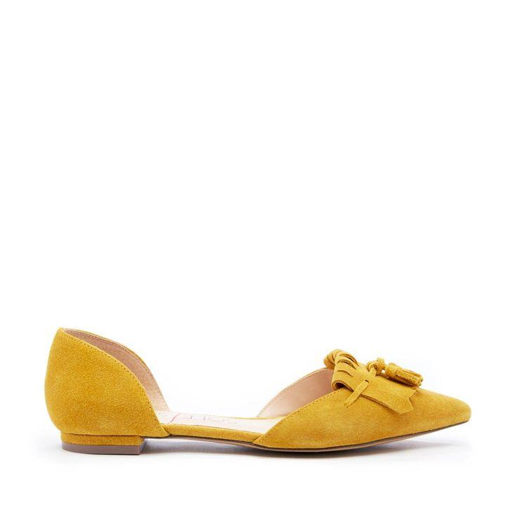 Hart Tassel Dorsay Flat - Mustard