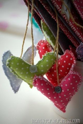 hearts fabric - cuoricini