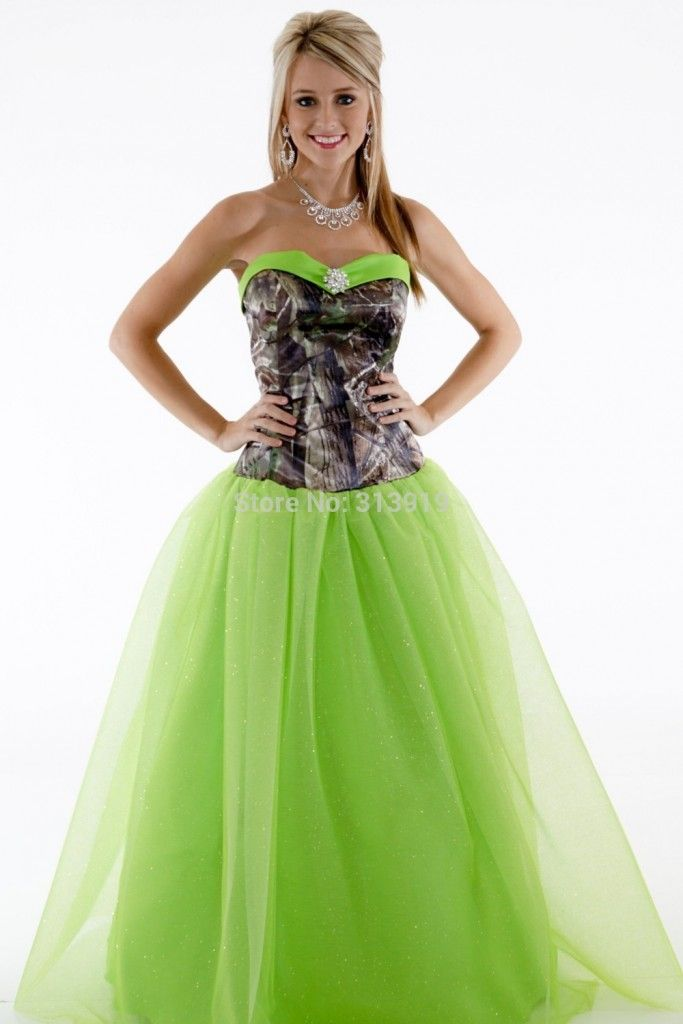 Hunting Camo Prom Dresses Plus Size Tops