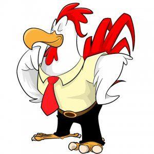 Free vector chicken cartoon