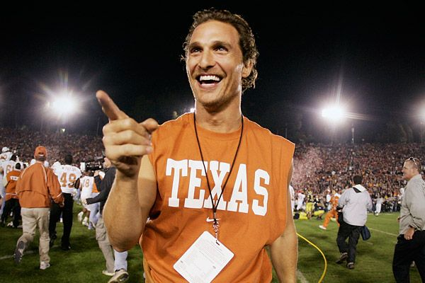 Matthew McConaughey at a UT football game.. doesn't get any better than this! ;)