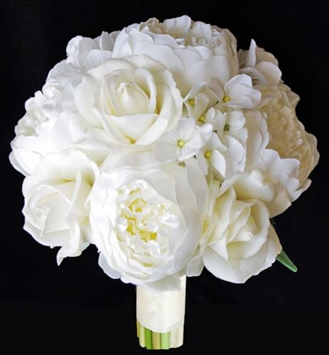 RTG Natural Touch Roses with Soft Touch Hydrangeas & Peonies Bouquet