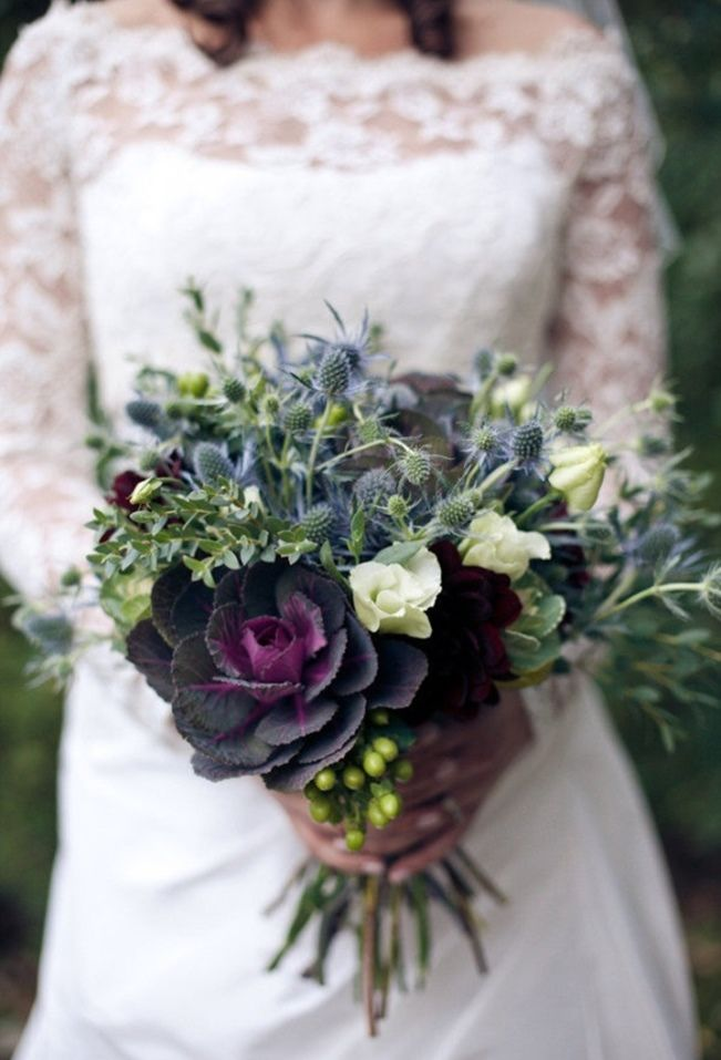 Sweet Violet Bride - http://sweetvioletbride.com/2013/08/wedding-flower-inspiration-thistle/