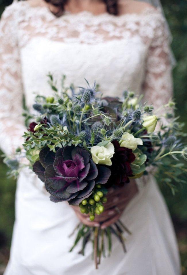 Sweet Violet Bride - http://sweetvioletbride.com/2013/08/wedding-flower-inspiration-thistle/