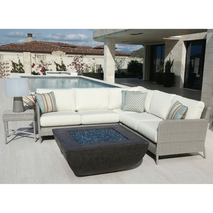 outdoor sunset west manhattan aluminum sectional sofa with cushion 3301sec8353
