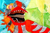 NYCHA Resident Art Show 2012 - Manhattan | Chinese Dragon - Group Project, Age 6-12, Drawing