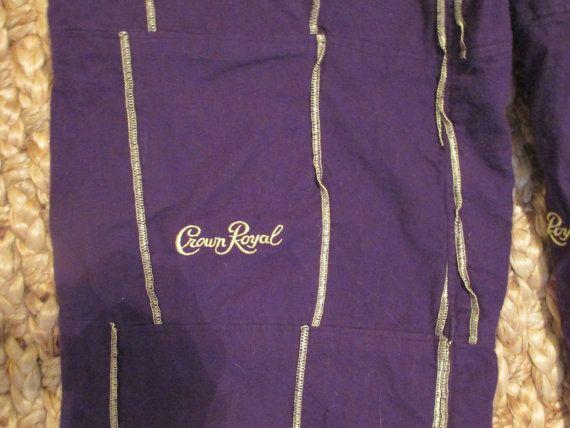 Crown Royal Bag Pajamas Mardi Gras Costume by MemoriesofMargaret