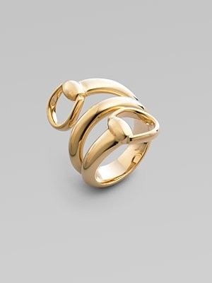 Perfect saksfifthavenue The Gucci K Gold Horsebit Ring