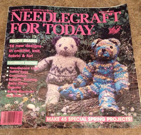 Needlecraft for Today craft magazine March 1984  Happy Hands