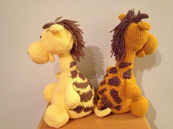 BIG Giraffe: crochet stuffed animal
