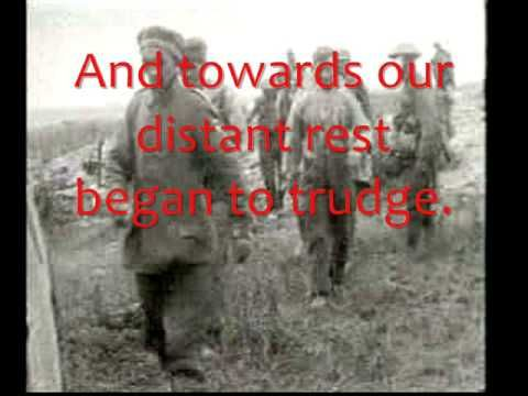 """WILFRED OWEN - DULCE ET DECORUM EST, Text of poem and notes LCE ET DECORUM EST - the first words of a Latin saying (taken from an ode by Horace). The words were widely understood and often quoted at the start of the First World War. They mean """"It is sweet and right."""" The full saying ends the poem: Dulce et decorum est pro patria mori - 'It is sweet and right to die for your country' In other words, it is a wonderful and great honour to fight and die for your country."""