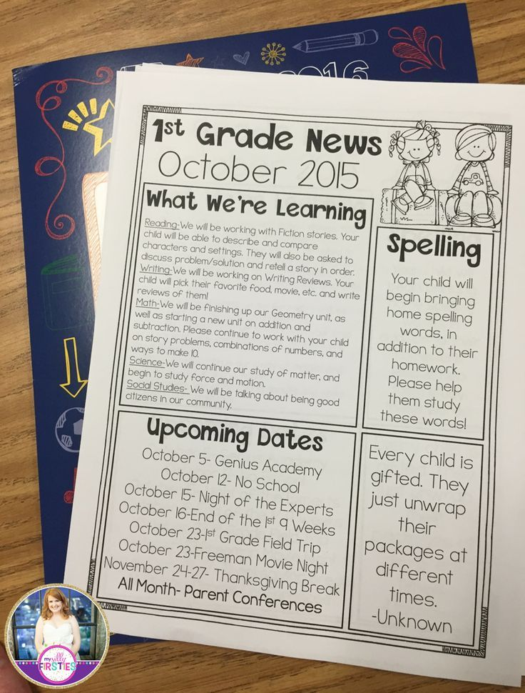 Editable Class Newsletters. You can move the boxes around and edit all the text!