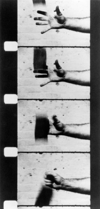 Richard Serra.  Hand Catching Lead. 1968