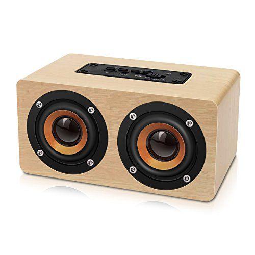 EIVOTOR Altavoces Bluetooth Inalámbricos Portátiles (Hi-Fi, Bass, 2X5W, Material Madera), 2000 mAh Batería Recargable, Soporta para Tarjeta TF, Manos Libres y AUX #EIVOTOR #Altavoces #Bluetooth #Inalámbricos #Portátiles #Bass, #Material #Madera), #Batería #Recargable, #Soporta #para #Tarjeta #Manos #Libres