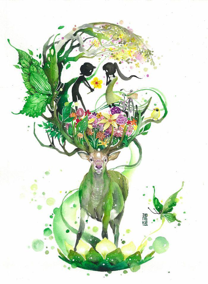 Este Artista Cria Aquarelas Mágicas Com Lindos Animais                                                                                                                                                      Mais