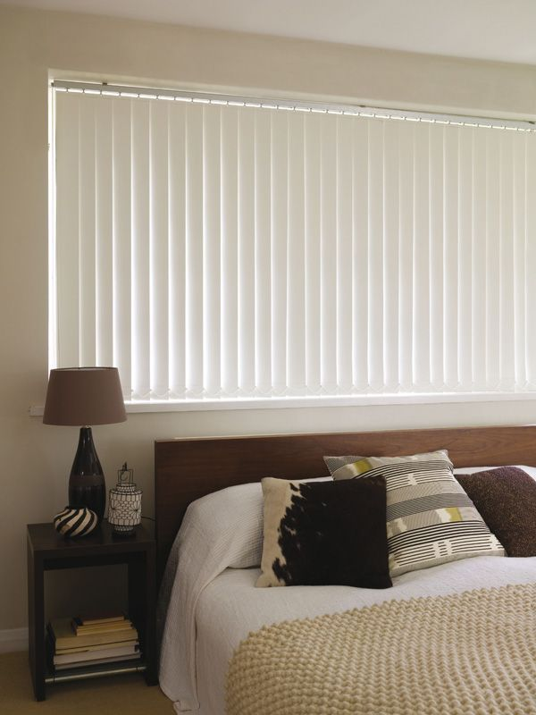 White Blackout Vertical Blinds Fabricblinds Fabric Blinds